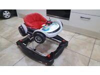 Baby race car walker/rocker