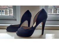 Nly black suede shoes size 4