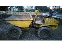 Thwaites 1 ton dumper, hydraulic tip.