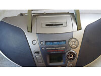 used panasonic rx-es27 portable stereo boombox cd player radio cassette deck