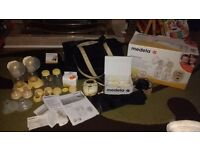 Medela double electric breast pump with extras