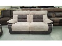 Ex-Display ScS Curve 3 Seater Electric Recliner Sofas (2 Available £399 Each) **CAN DELIVER**
