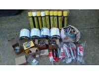 job lot of hardware supplies