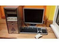 Used Workstation PC from Europe with keyboard, mouse and monitor