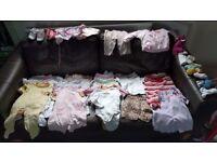 Girls clothing bundle 3-6 months