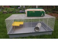 Cage for rabbits, guinea pigs, rats or hamsters