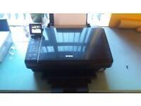 For sale Epson Stylus SX515W Allin one printer scanner copier, plus 16 ink cartridges.