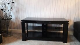 Mirrored Black Glass TV Console/Stand