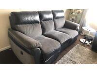 Grey Electric Reclining sofa
