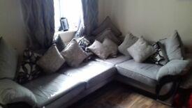 Grey and black corner sofa and all cushions