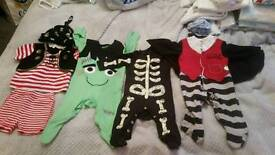 Boys dressing up outfits 0-3 and 3-6 months