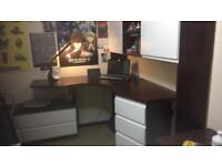 Large desk with lots of storage