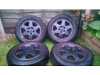"alloy wheels set with tyres 5 stud Vauxhall 15"" 5x110"