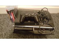 PS3 3 GAMES OFFICIAL PAD AND ALL WIRES AND NETFLIX WHICH I WONT DELETE
