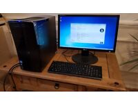 Acer Aspire M3970 Desktop PC and 22in Monitor