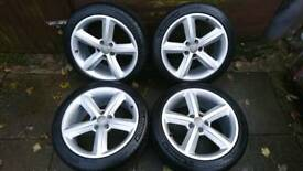 Audi A5 S-line Alloy wheels 18 matching MICHELIN Pilot Sport tyres