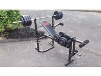 PRO POWER BENCH & BARS WITH 47.5KG WEIGHTS