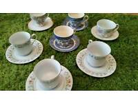 Various cups and saucers