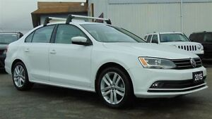 2015 Volkswagen Jetta HIGHLINE - HTD LEATHER-SUNROOF- ONLY 25, 0