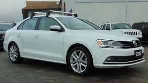 2015 Volkswagen Jetta HIGHLINE - HTD LEATHER-SUNROOF- ONLY 25, 0