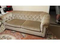 Brand new velvet chesterfield sofa bed