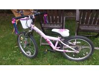 Girls pink bike 20inches