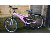 Ladies mountain bike full suspension £35