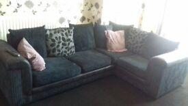 Black large corner sofa