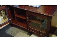 Mahogany cabinet TV stand