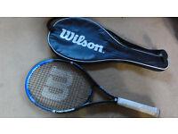 Wilson Nemesis Basalt Matrix Power 110 BLX Adult Tennis Racket Racquet/ N-Code Cover L3