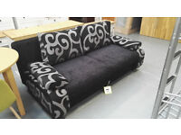 Brand New Fabric Sofa Bed. 196cm By 80cm By H81 cm. Instant Delivery. 1 Available. Down From £395