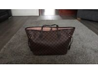 New Louis Vuitton neverfull bag brown and pink