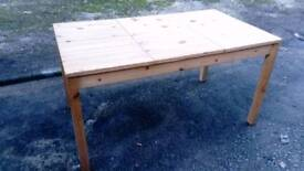 IKEA PINE DINING TABLE GOOD CONDITION FREE LOCAL DELIVERY