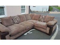 Spacious four seater corner sofa