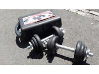 YORK 20KG DUMBBELL WEIGHTS SET