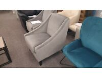 Julian Bowen Maison Grey Velvet Chair Can Deliver