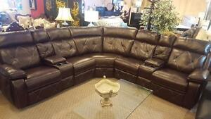 Today's SPECIAL Modern Gel Leather Recliner with cup holders GAURANTEED LOWEST PRICE IN GTA FOR ALL YOUR HOMEFURNISHINGS