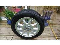 Vw golf mk1 spoked alloy wheel with almost new tyre