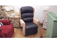 British Made Ex-Demo Riser Recliner Chair with 'Waterproof' Fabric, Delivery Available