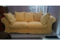 Stunning Summer Yellow. A Large 4 Seater Sofa. £90ono. Cowley. Deliver 10 miles only