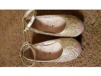 Monsoon pink butterfly shoes size 7