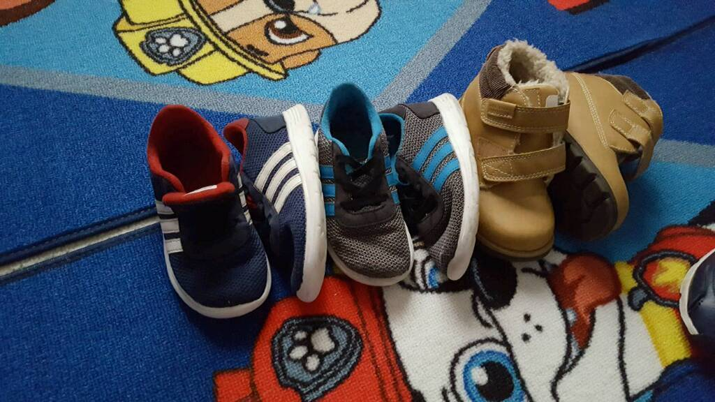Boys adidas shoes size 9in Llanelli, CarmarthenshireGumtree - Boys adidas shoes two pairs in good condition and a pair of brown boots brand new never worn