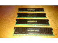16gb of Corsair Vengeance 1600 mhz DDR3 low profile memory £70