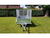CAGE TRAILER - 7,7FT X 4,2FT MESH SIDES TRAILER