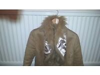 Faux Fur and Suede Jacket -