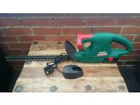 Qualcast, cordless hedge trimmer with charger