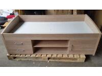 Yanniek Cabin Bed Frame - Oak (small scratches)