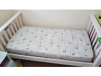 Childs single bed and matress in good clean condition