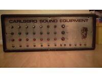 vintage Carlsbro 200w pre amp