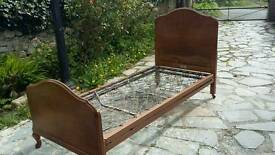 Staples vintage 1950s sprung/wooden bed frame
